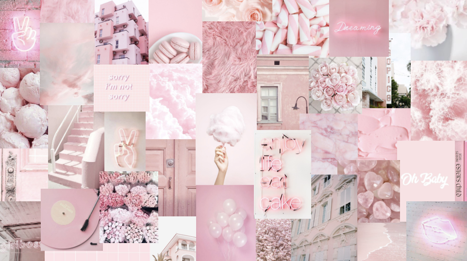 baby pink alannahg03 Pink wallpaper laptop Cute flower 962x538