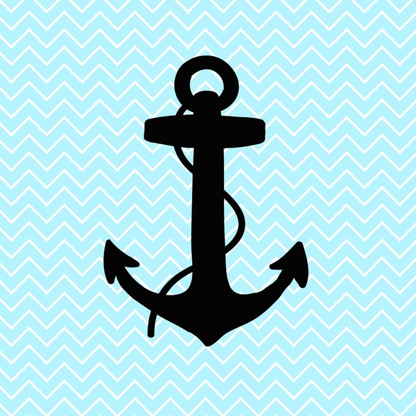 Chevron Anchor Wallpaper Chevron anchor art print 600x600