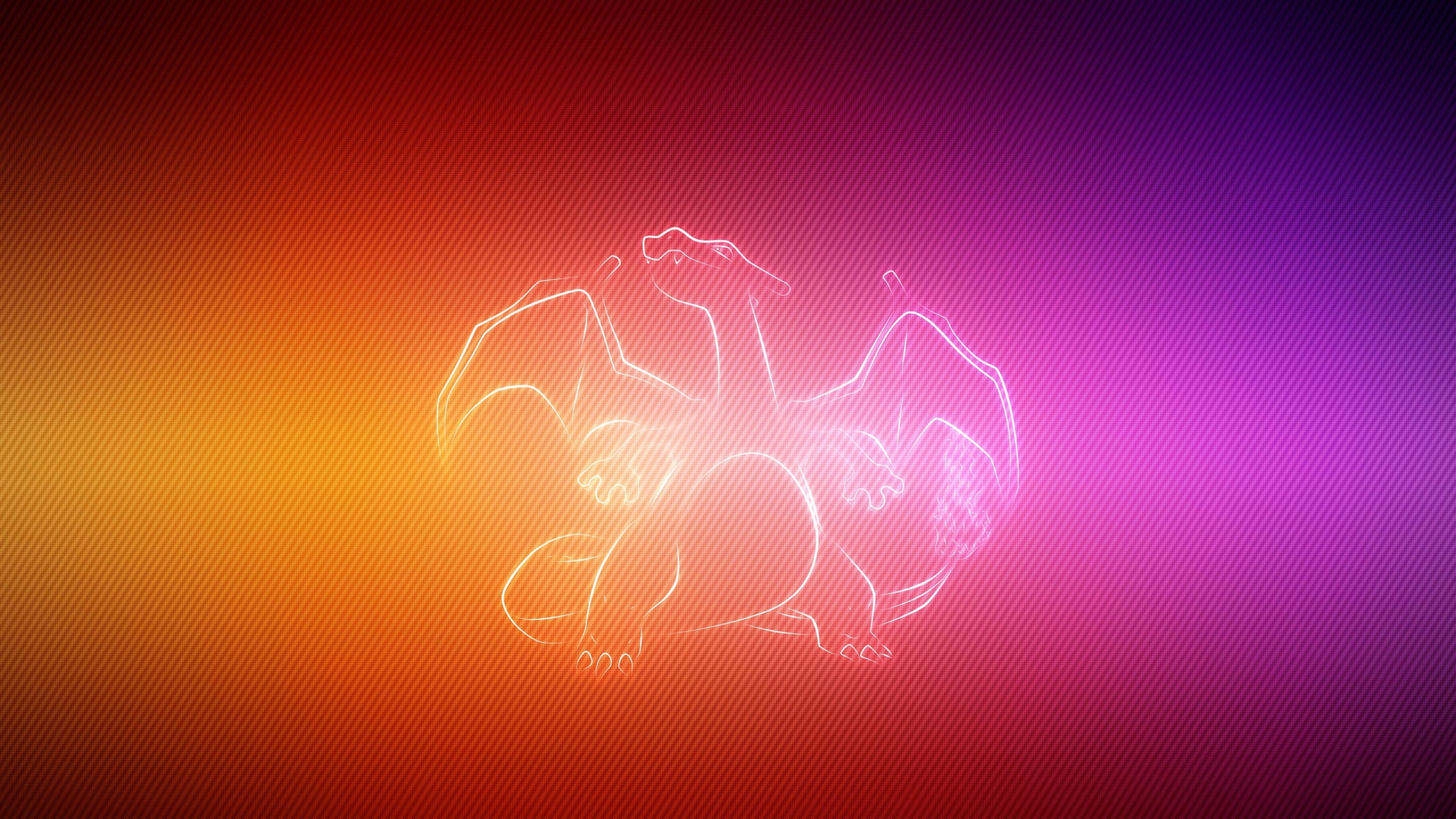 Download Wallpaper 3840x2160 dragon wings pokemon charizard 4K 3840x2160