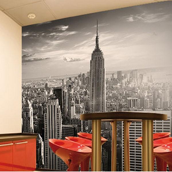 Skyline Wallpaper Mural   New York cityscape feature wall decor 600x600