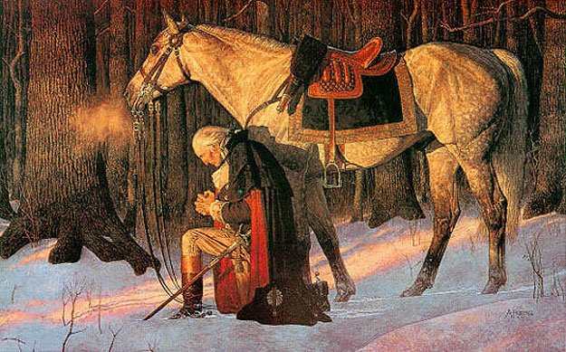The Prayer at Valley Forge   by Arnold Friberg 1976 625x389