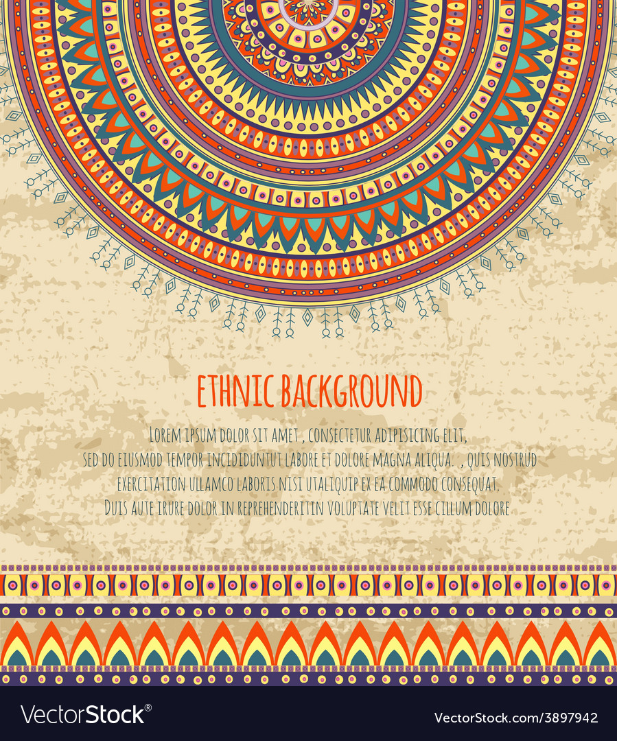 Free Download Ethnic Ornament And Texts For Background