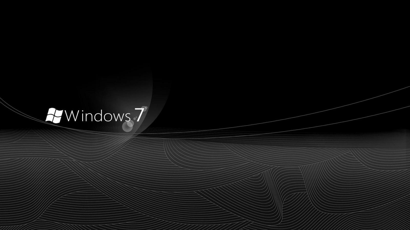 Windows 7 windows elegant black wallpapers 1920x1200 HQ WALLPAPER 1600x900
