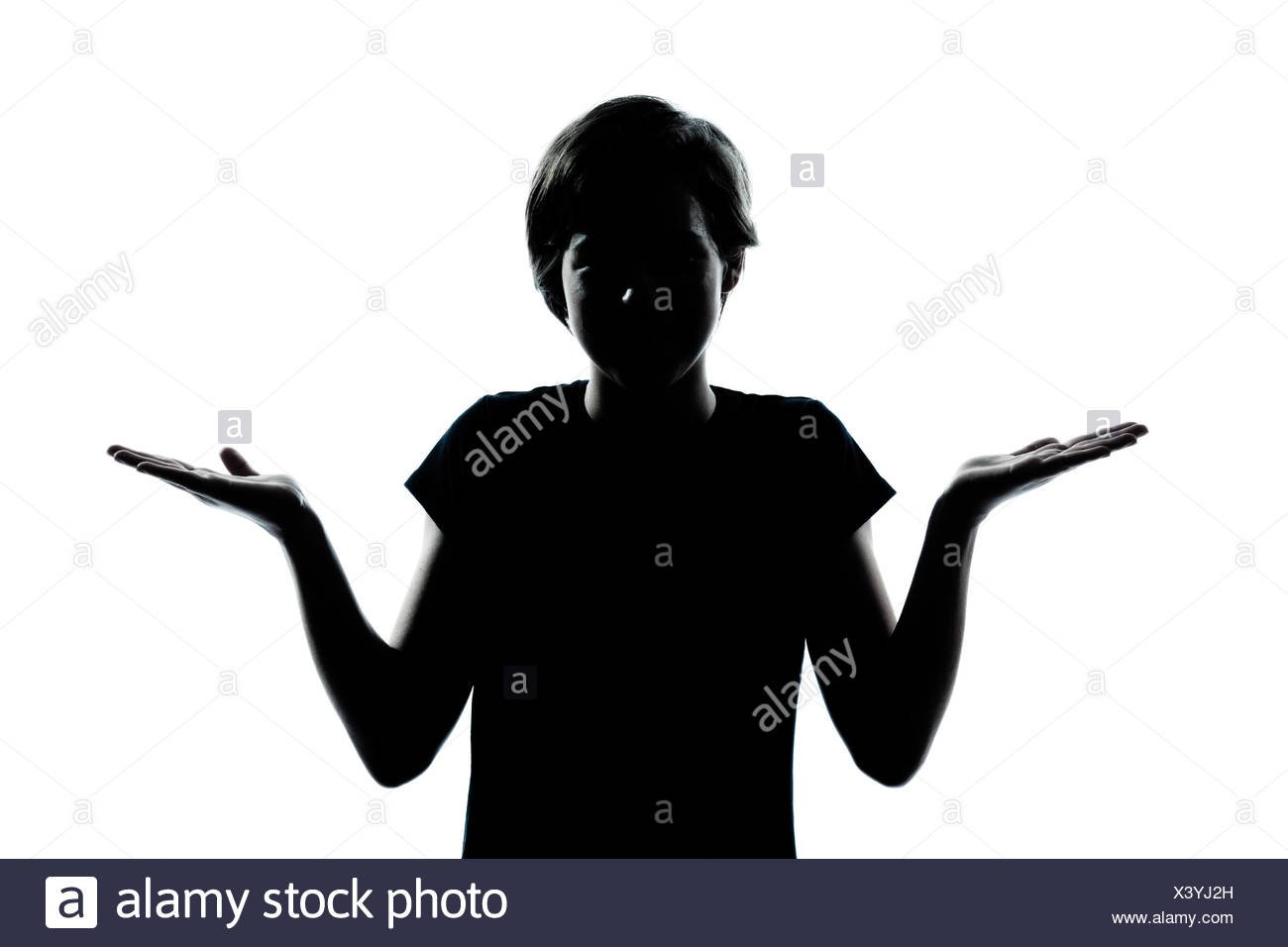 one caucasian young teenager silhouette boy or girl ignorant 1300x956