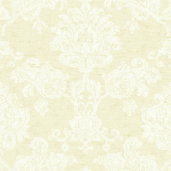 Cream and White Hand Block Damask Wallpaper   Wall Sticker Outlet 600x600