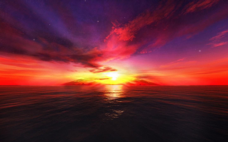 3D Sunset wallpapers 3D Sunset stock photos 1440x900