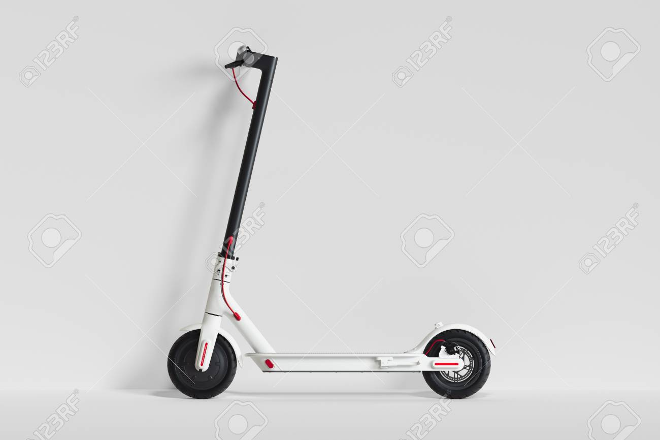 Electric Scooter Isolated On White Background Eco Transport 1300x866