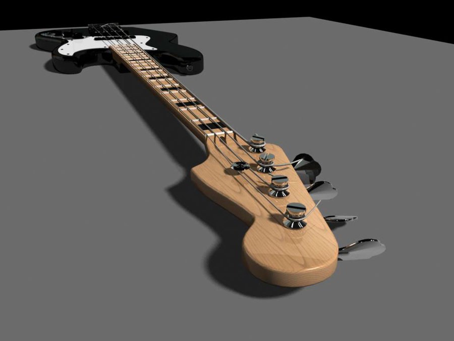Fender Jazz Bass Wallpaper Fender jazz bass 3d model by 900x675
