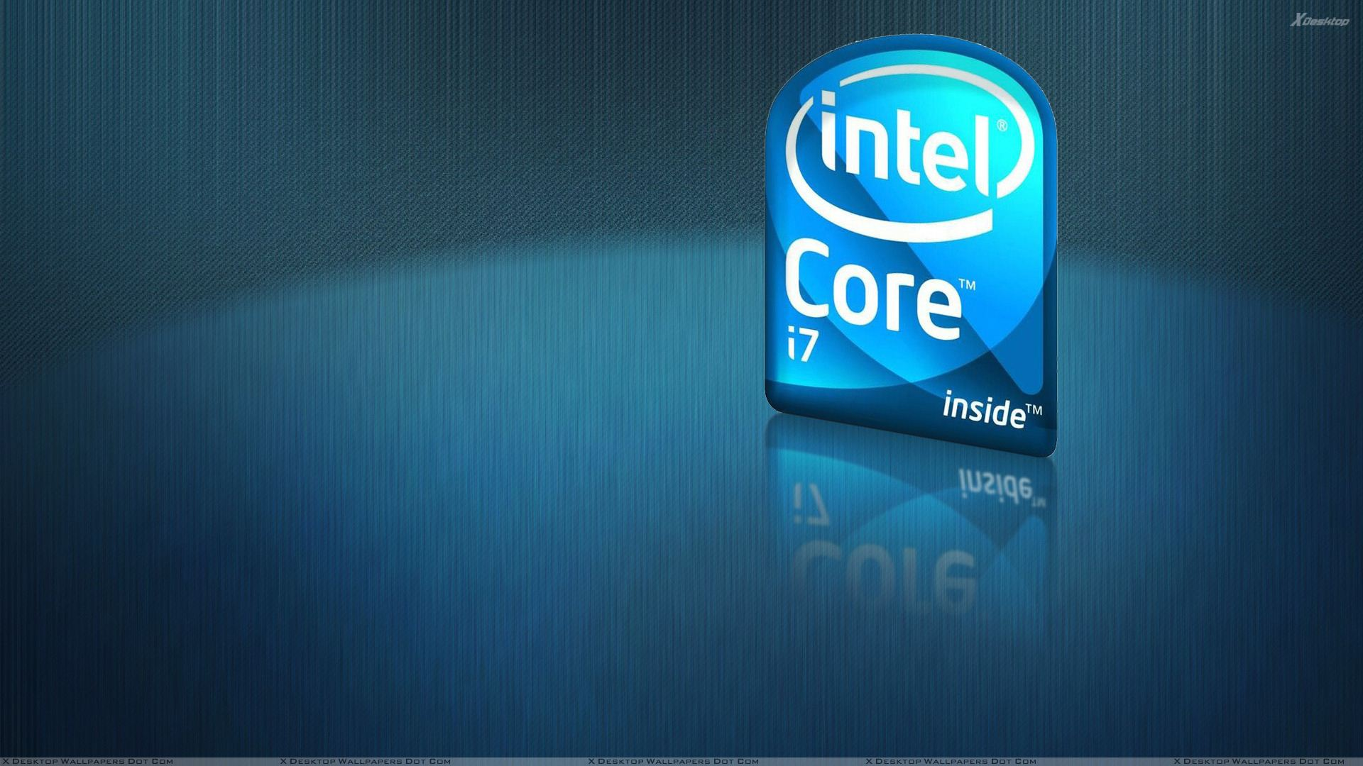 Intel Core i7 Logo And Blue Background Wallpaper 1920x1080