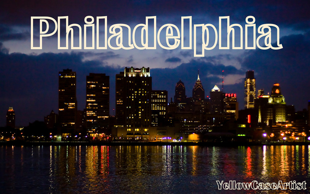 Philadelphia Skyline Wallpaper by yellowcaseartist 1024x640