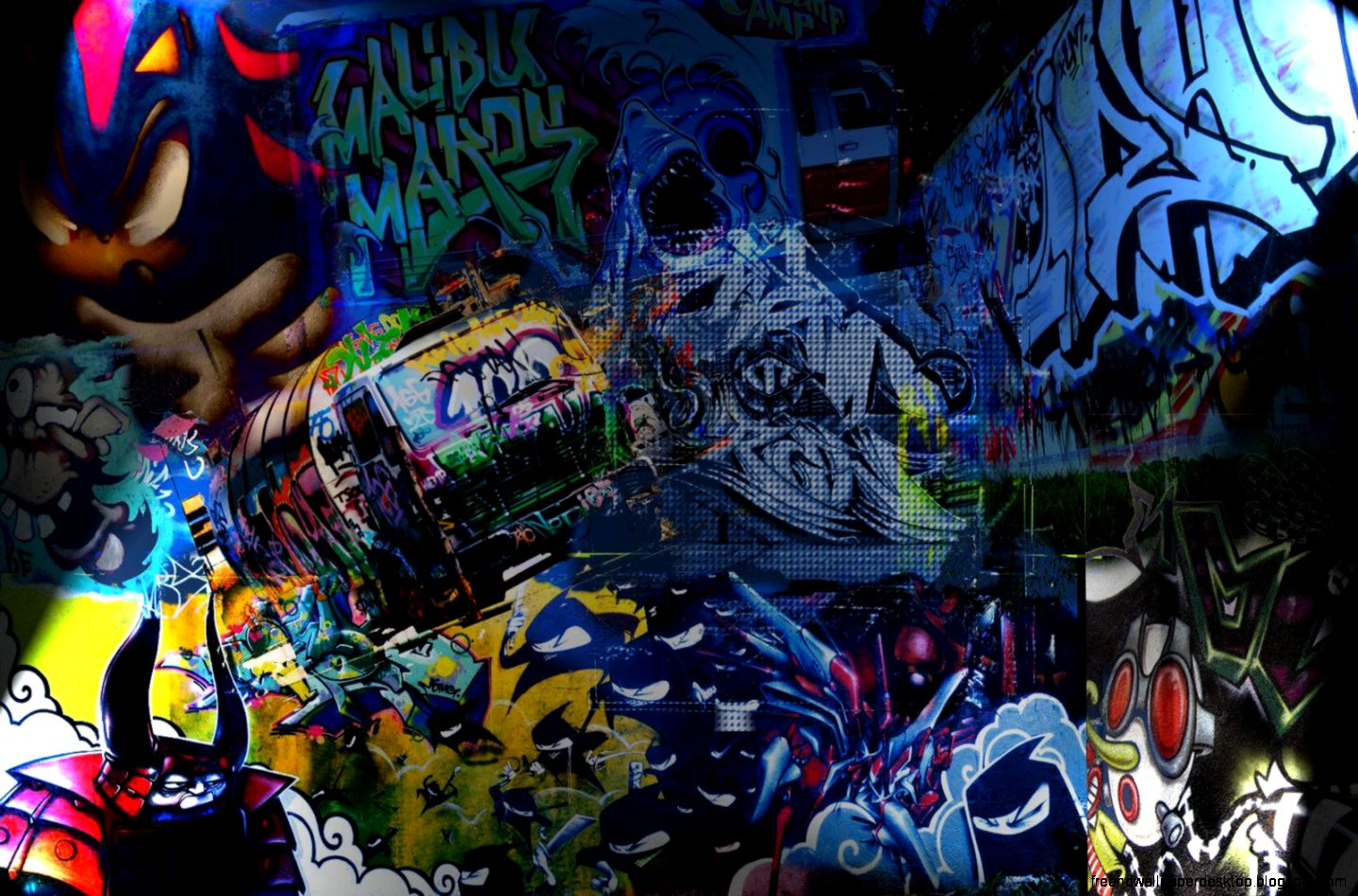 OJ44 Abstract Graffiti Wallpaper   Widescreen Wallpapers 1440x950