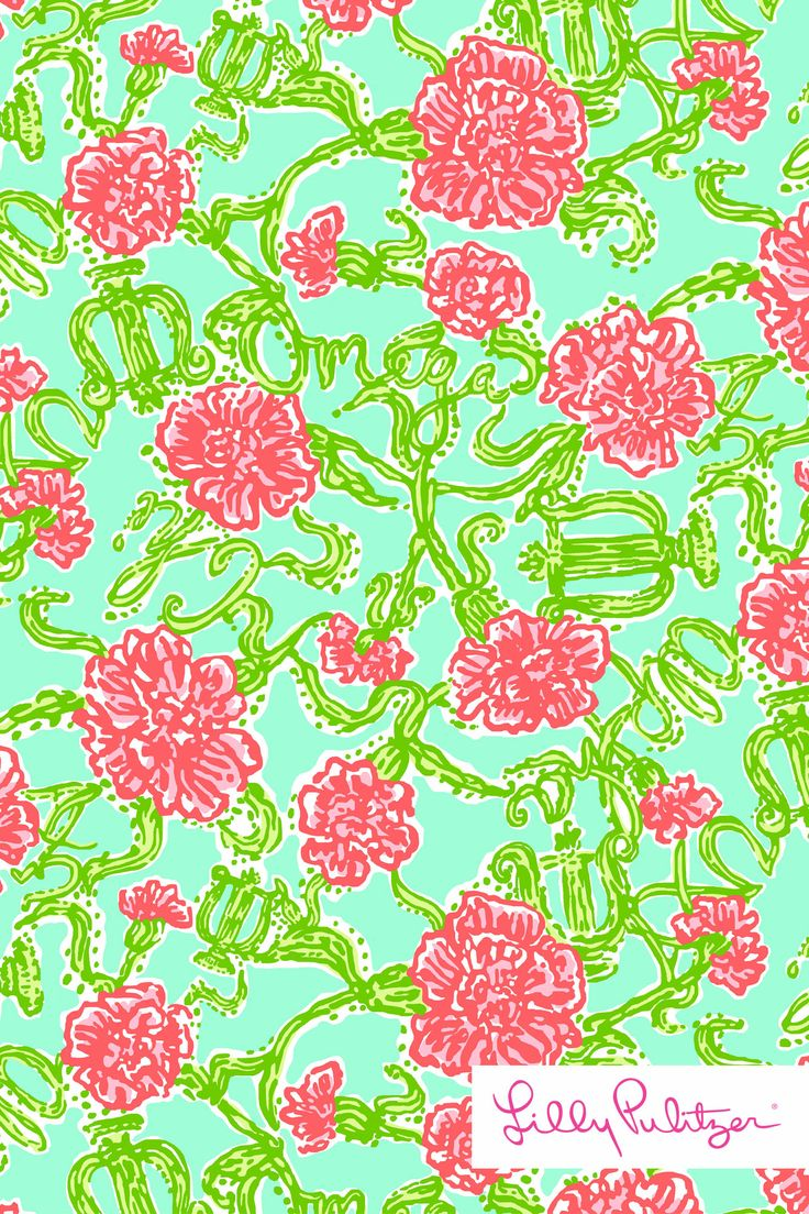 Lilly Pulitzer wallpaper AXO Alpha Chi Omega Patterns We Love Lilly 736x1104