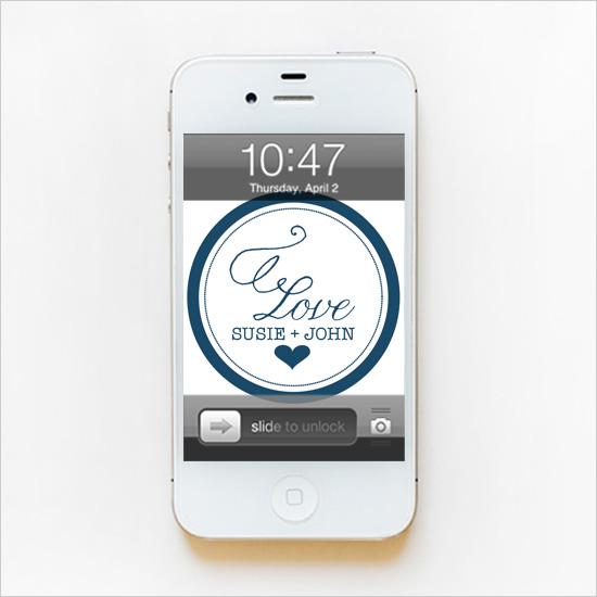 Circle Love Monogram Phone Wallpaper   The Wedding Chicks 550x550