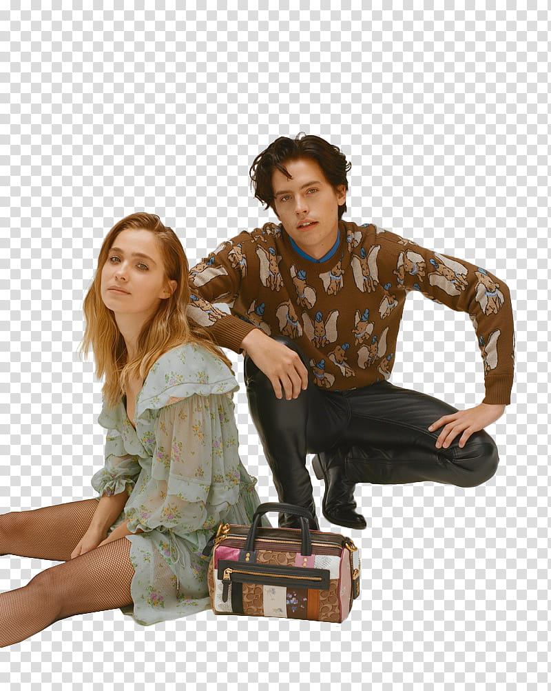 HALEY LU RICHARDSON Y COLE SPROUSE transparent background PNG 800x1002