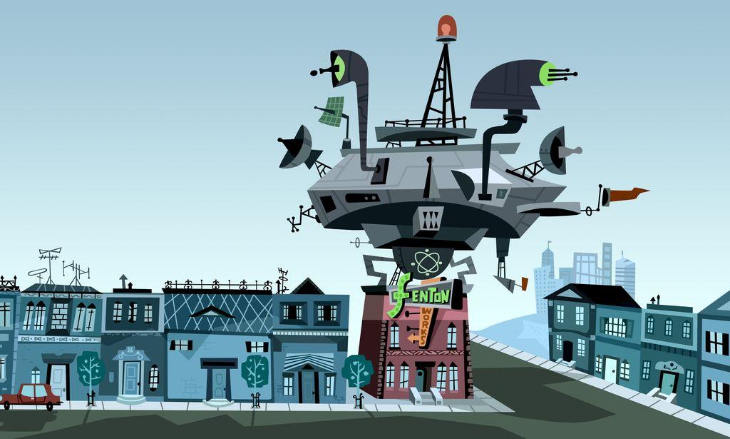 Danny Phantom Background Fenton Neighborhood by christophr1 on 1024x615