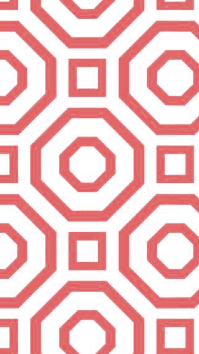 Coral Geometric Wallpaper Wallpapersafari