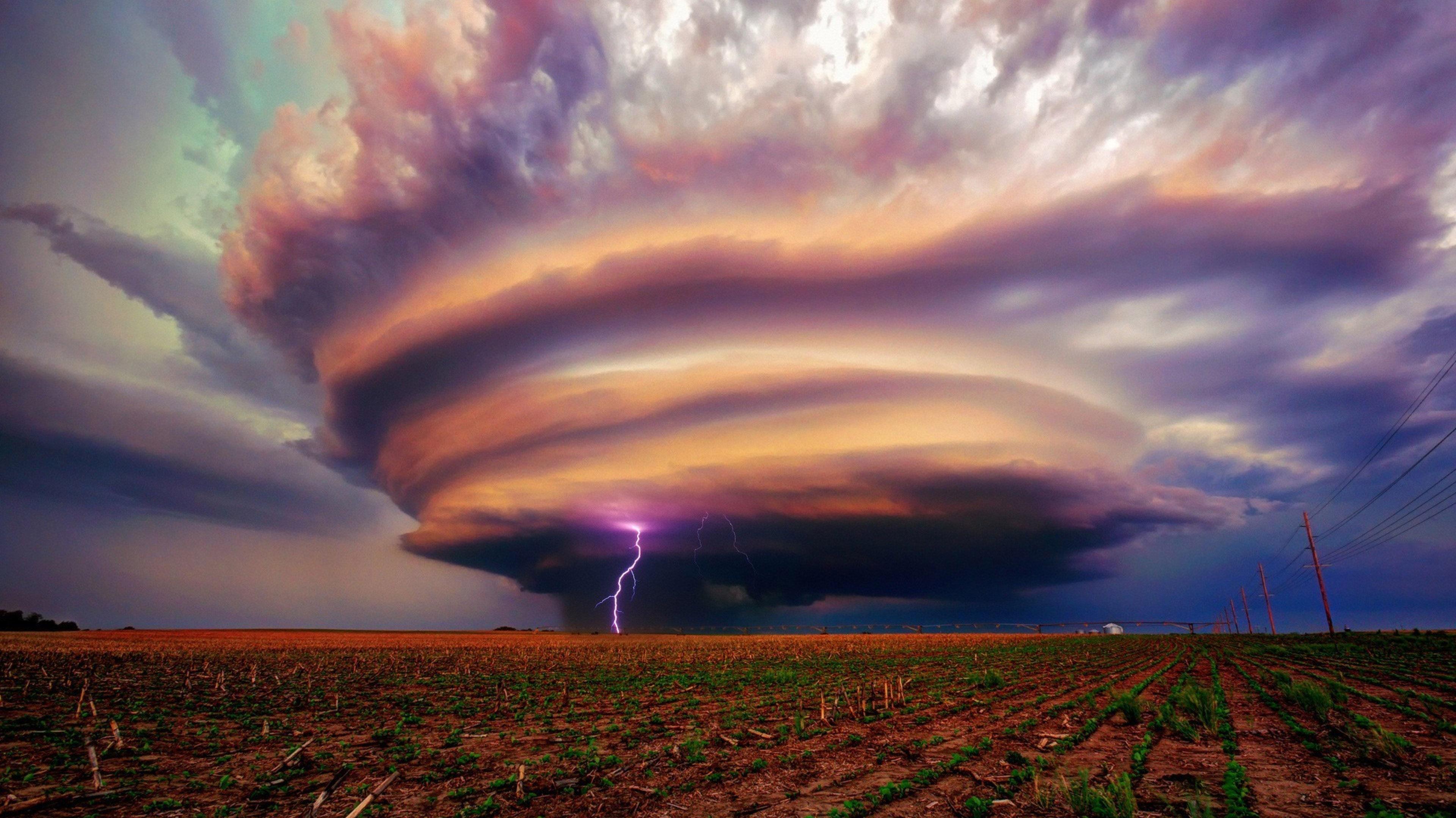 Tornado Storm 4K Wallpaper 3840x2160