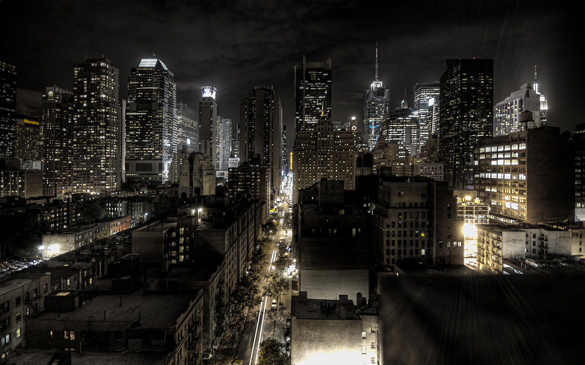 New York At Night Wallpapers Full HD with High Definition 1920x1200