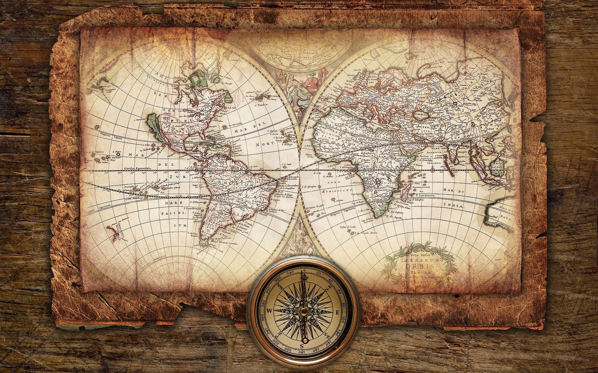 Antique Map Compass Background 1920x1200 Download Amazing 1920x1200