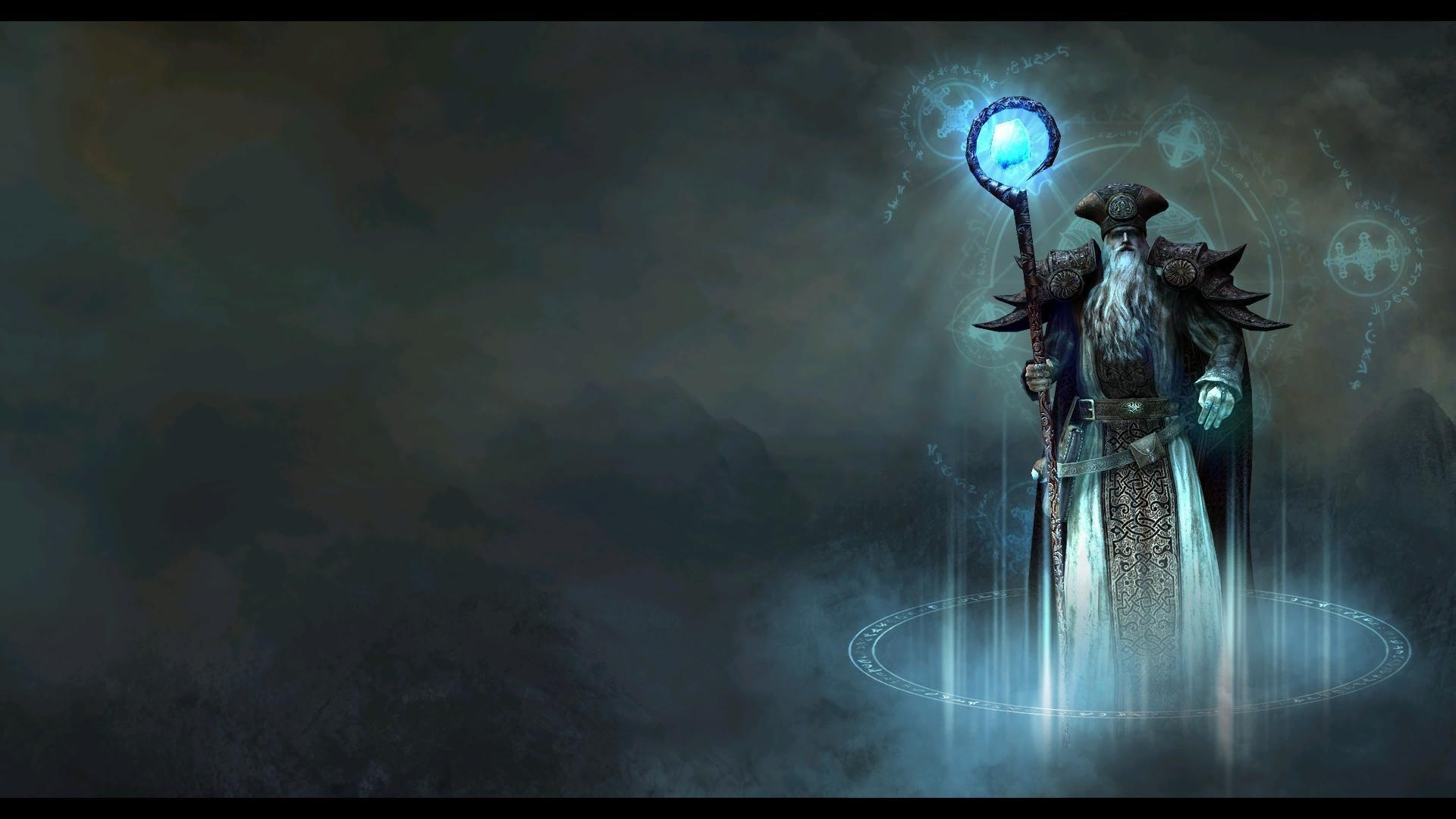 Fantasy Art Necromancers Wallpapers Hd Desktop And: Wizard Wallpaper HD