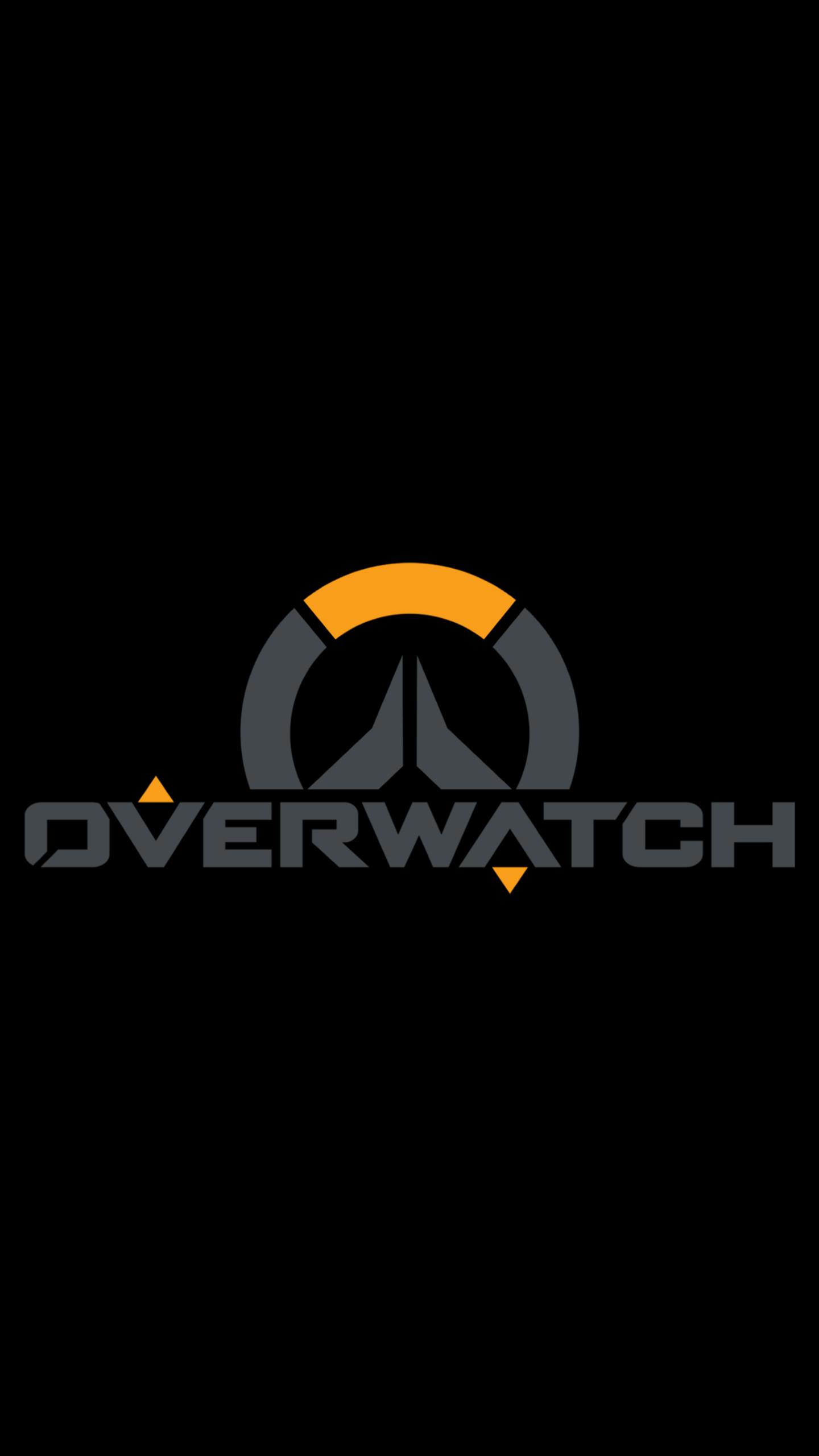 Free Download Overwatch Simple Logo Wallpaper 1440x2560