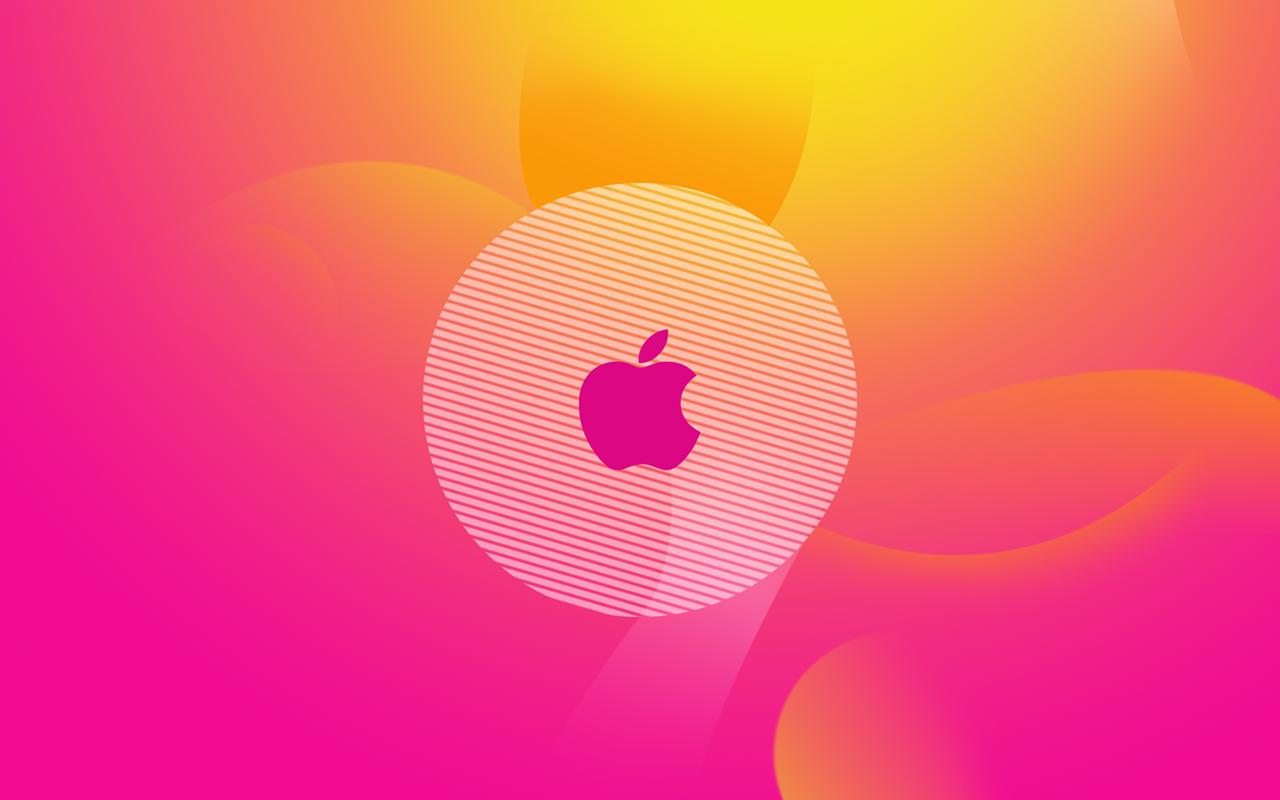Full HD Wallpapers Computers Apple Mac Logos Pink 1280x800