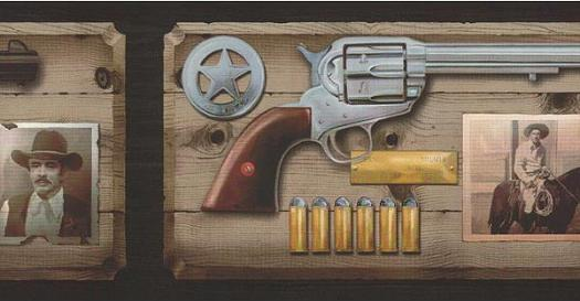 Western Wallpaper Border Old west ammo wallpaper border 525x273