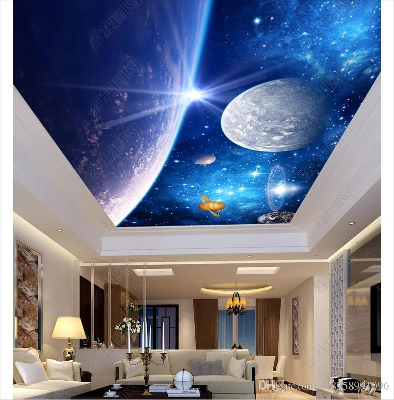 Custom 3D Photo Zenith Wallpaper Mural Interior Decoration Blue 803x814