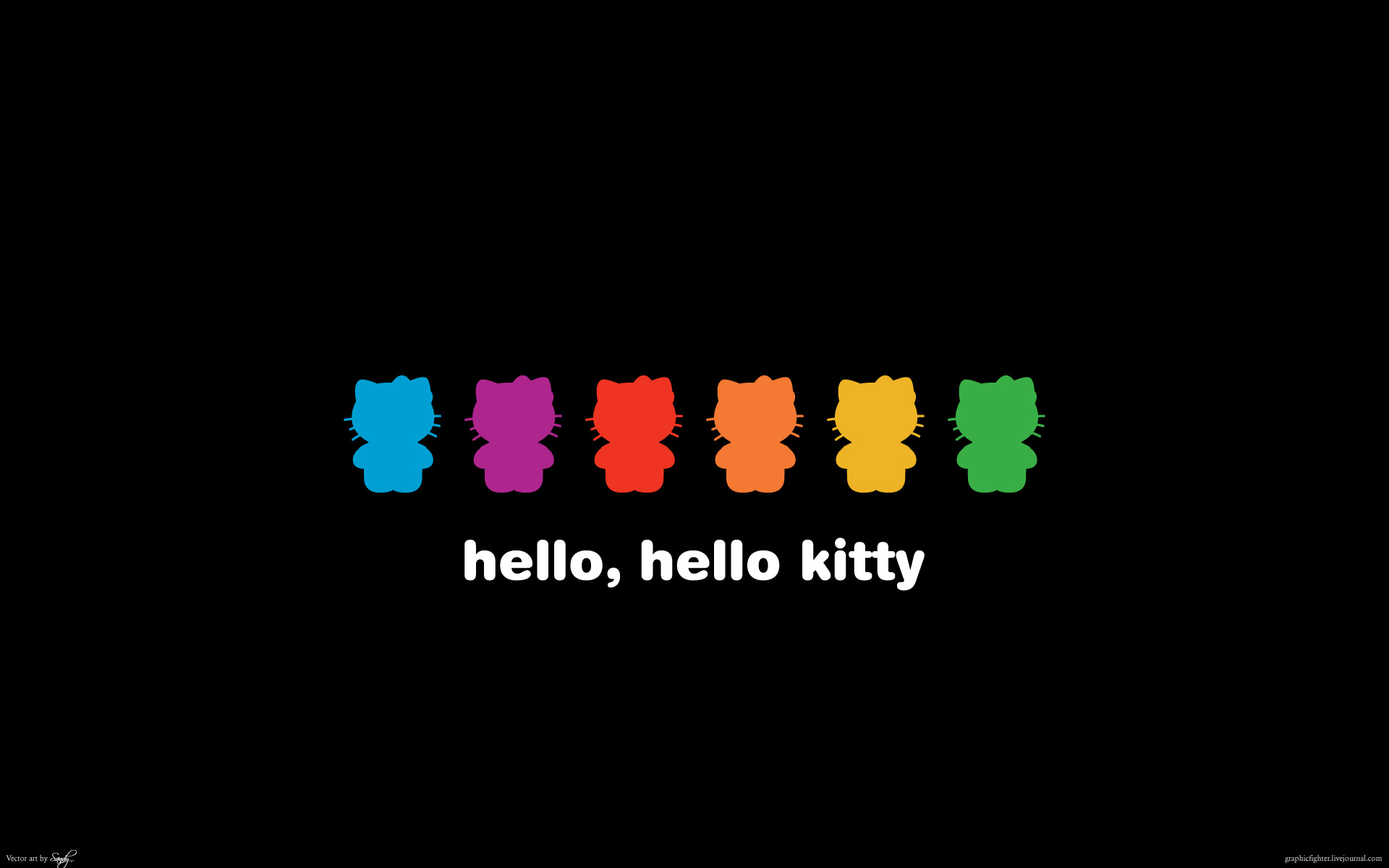 Black Hello Kitty Wallpapers Hello Kitty Wallpapers 1920x1200