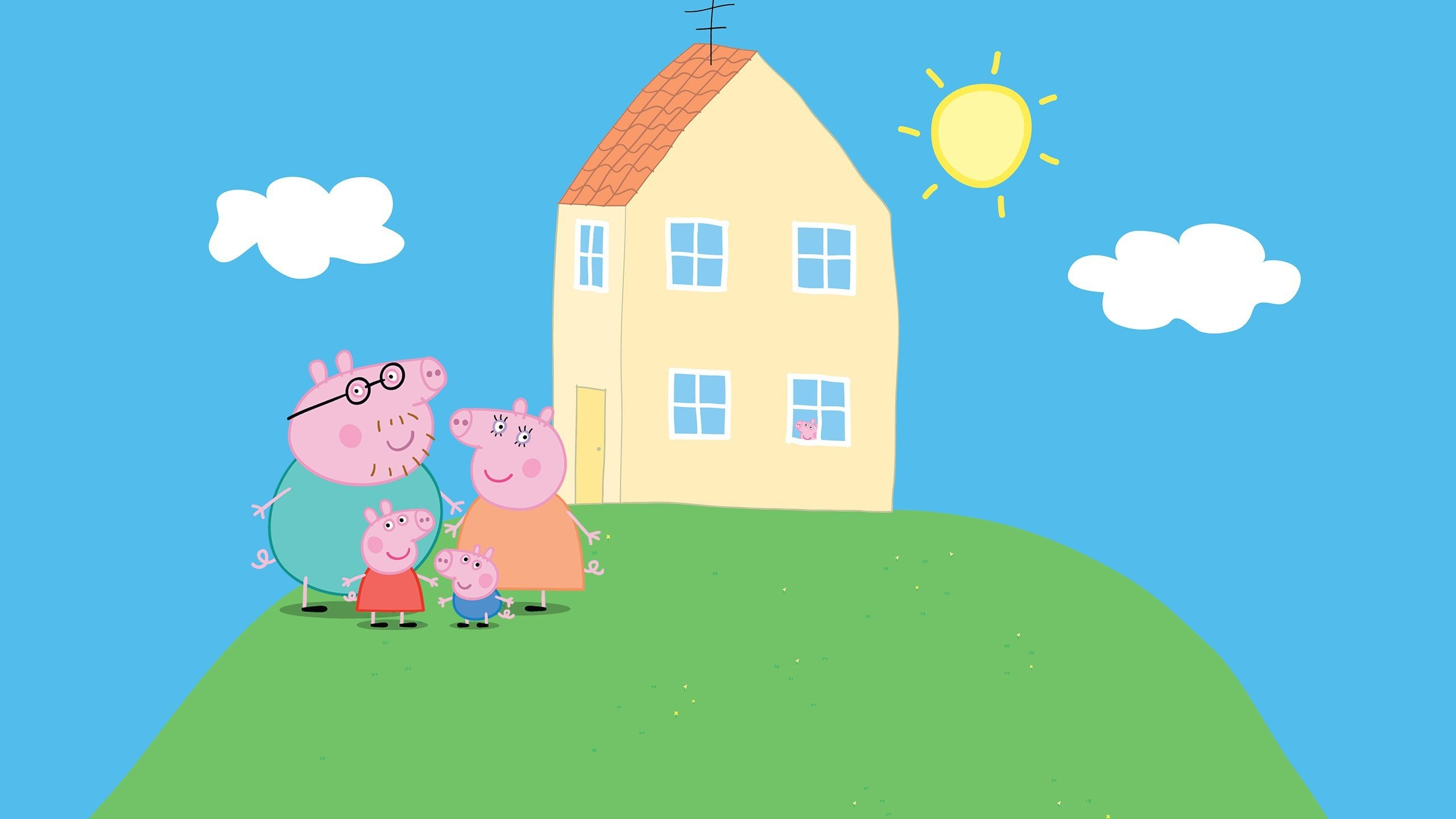 Peppa Pig Wallpaper   Peppa Pig Family And House 3105447   HD 2560x1440