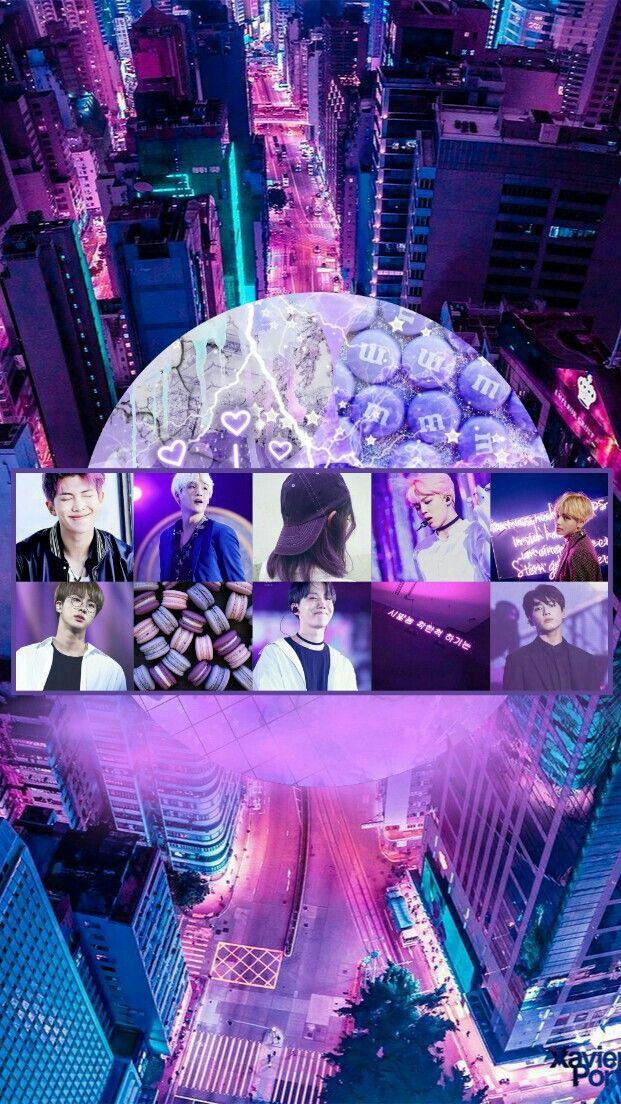 Bts Aesthetic Wallpaper Hd Purple 621x1104