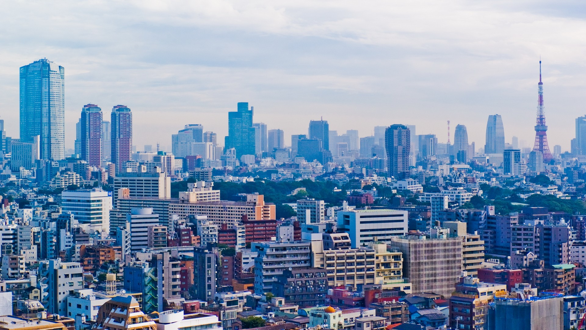 Japan Tokyo cityscapes skylines buildings skyscrapers Asia Asian 1920x1080