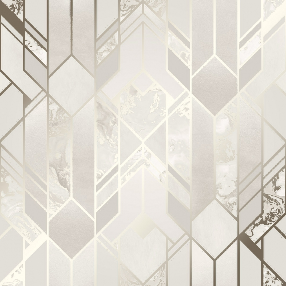 I Love Wallpaper Liquid Marble Geometric Wallpaper Cream 1000x1000