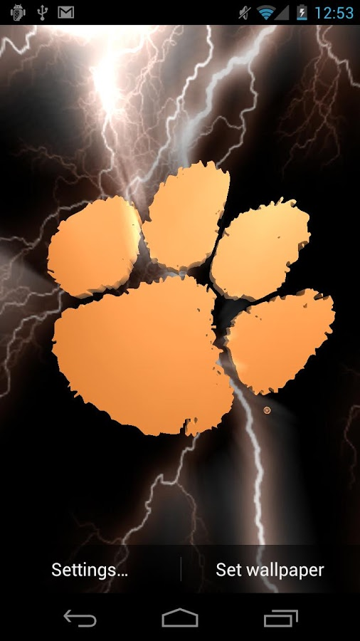 Free Download Clemson Tigers Live Wps Tone Android Apps On Google Play 506x900 For Your Desktop Mobile Tablet Explore 48 Clemson Football Wallpaper Clemson Tiger Paw Wallpaper Clemson Football