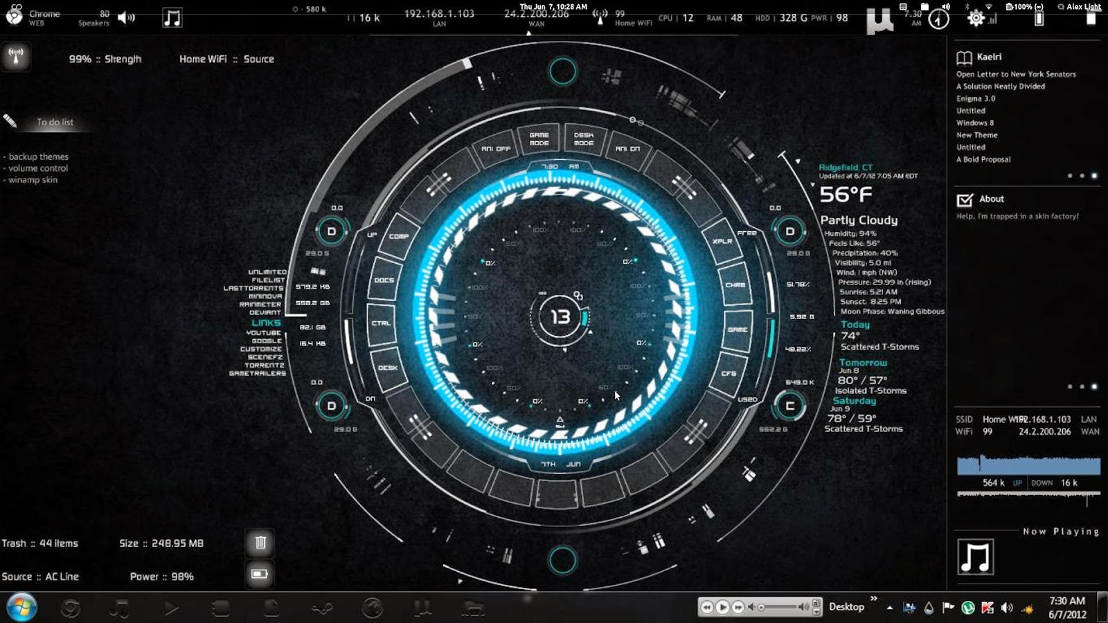 The Hood JARVIS Artificial Intelligence based Operating System 1600x900
