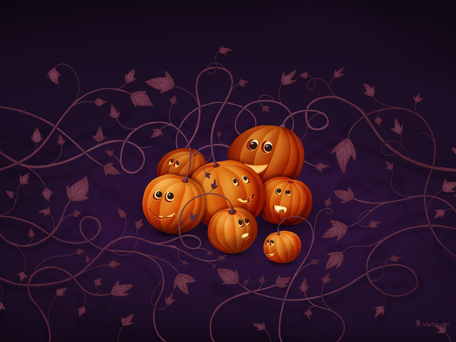 Scary Halloween 2012 HD Wallpapers Pumpkins Witches Spider Web 1600x1200