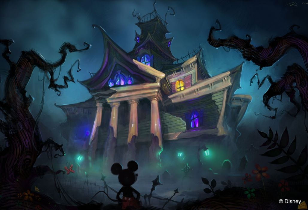 Mickey Mouse Creepy dark halloween disney haunted wallpaper 1029x700