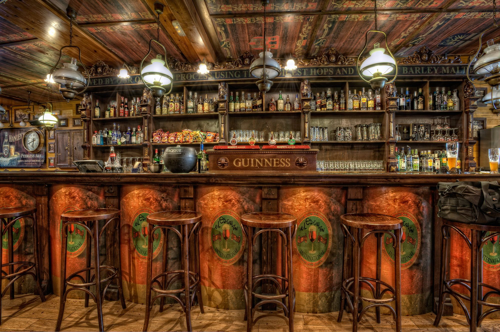 old western home bars Chairs Ceiling HDR Design Wooden Bar 2000x1328