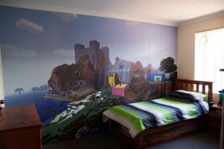 Minecraft Wallpaper for sale on Gumtree Minecraft Bedrooms Minecraft 736x490