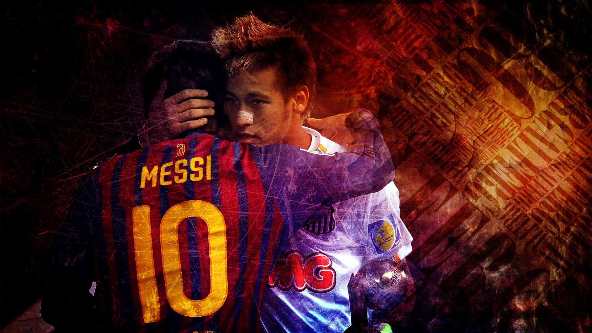 Neymar Messi HD wallpaper 1920x1080