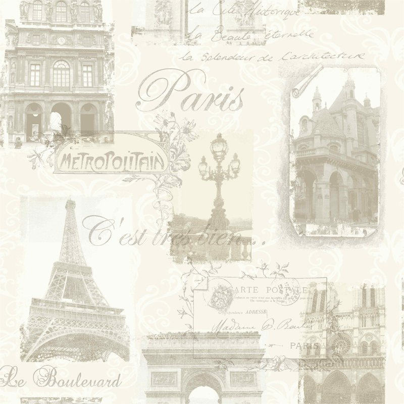 Design House Paris Cream Motif Wallpaper   286720 800x800