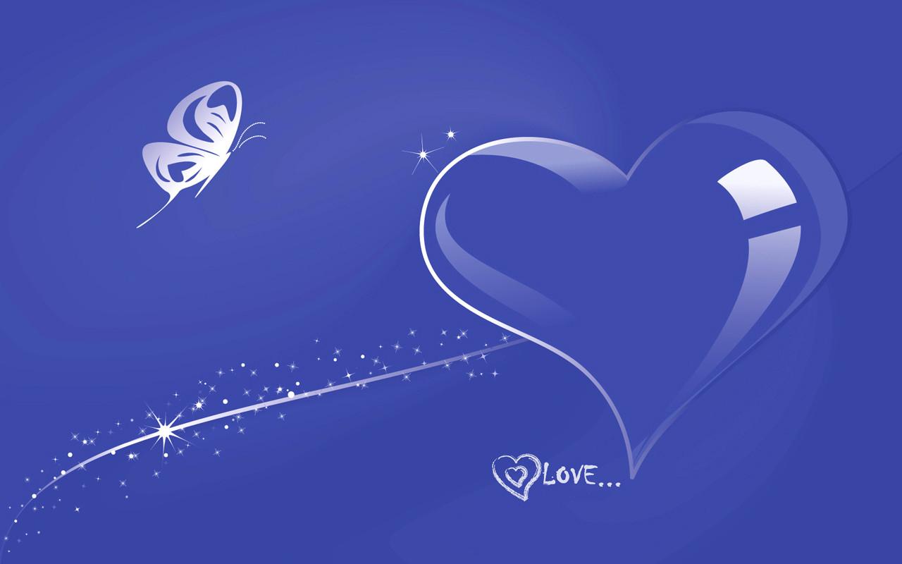 Blue Love Wallpaper - WallpaperSafari
