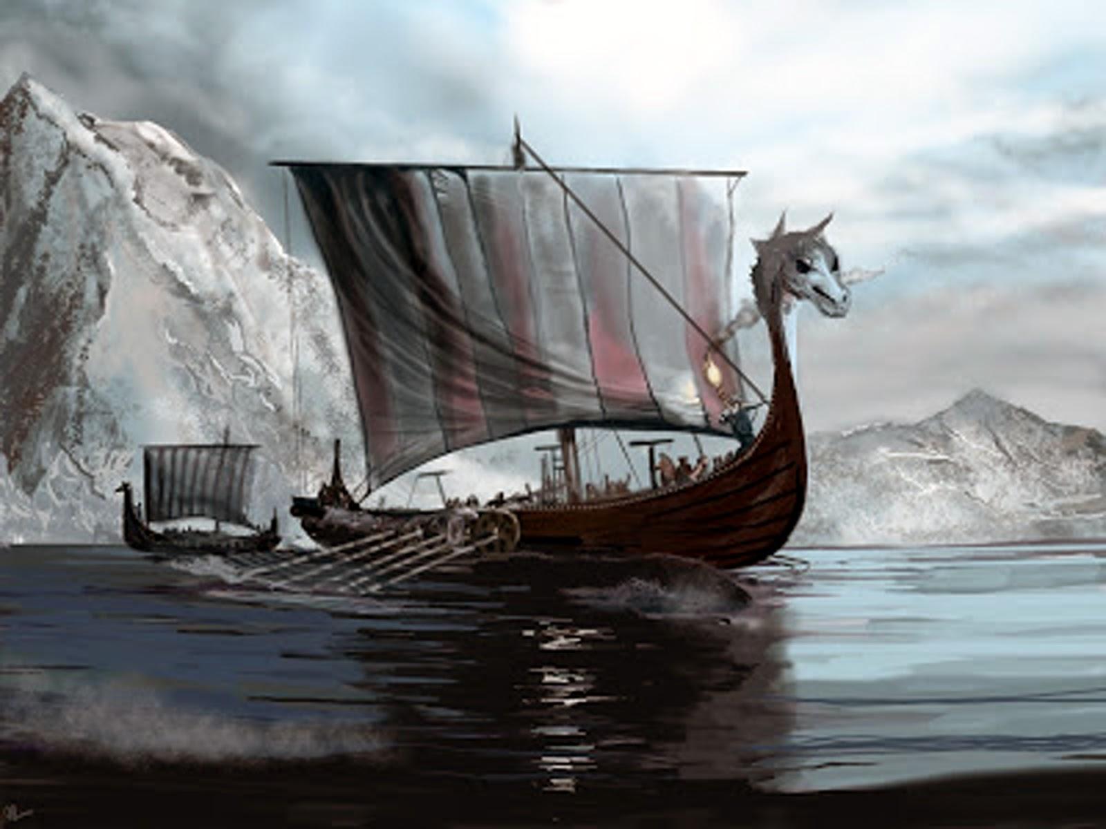 viking ship wallpaper wallpapersafari