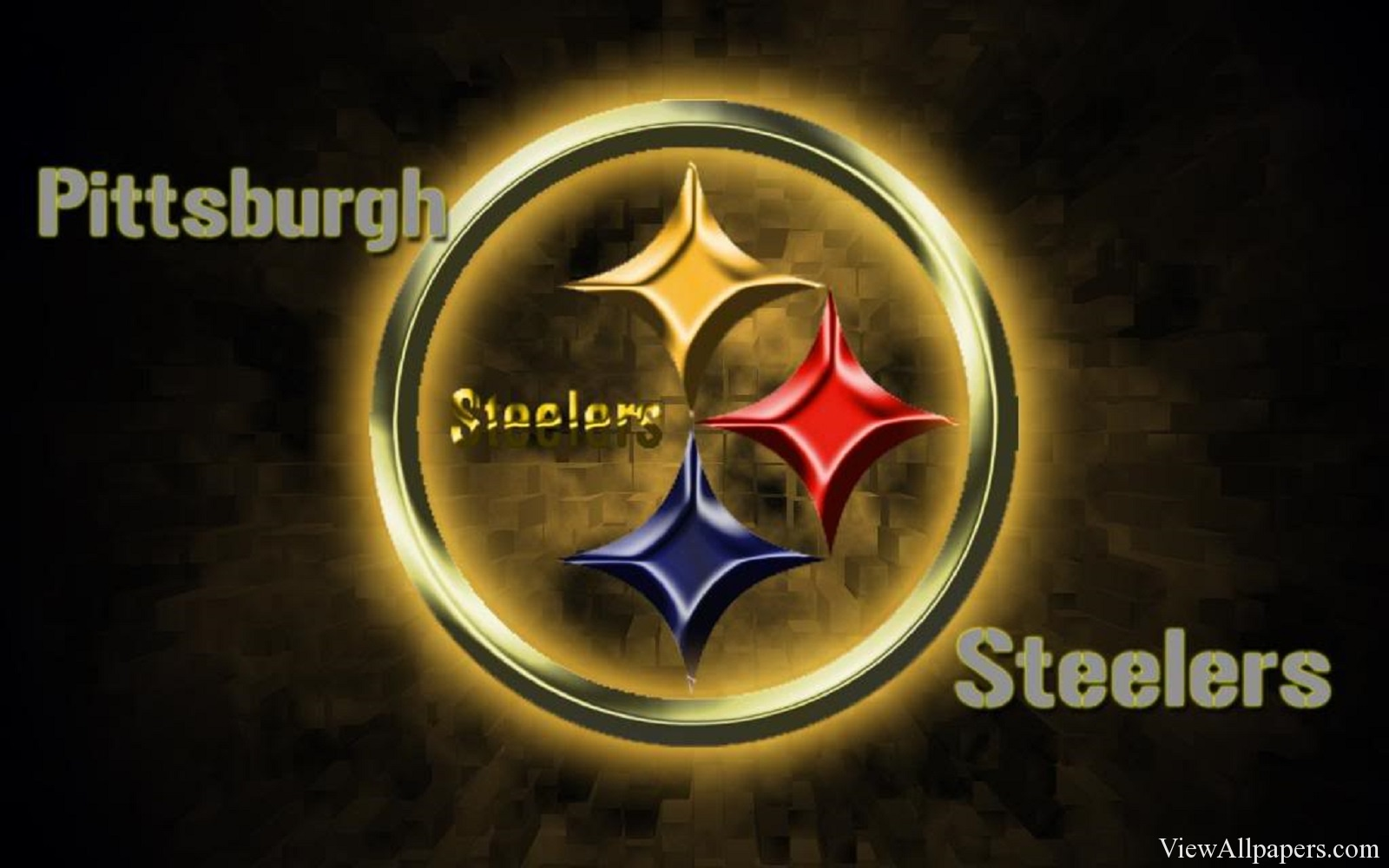 Pittsburgh Steelers Logo HD Resolution Wallpaper download 1600x1000