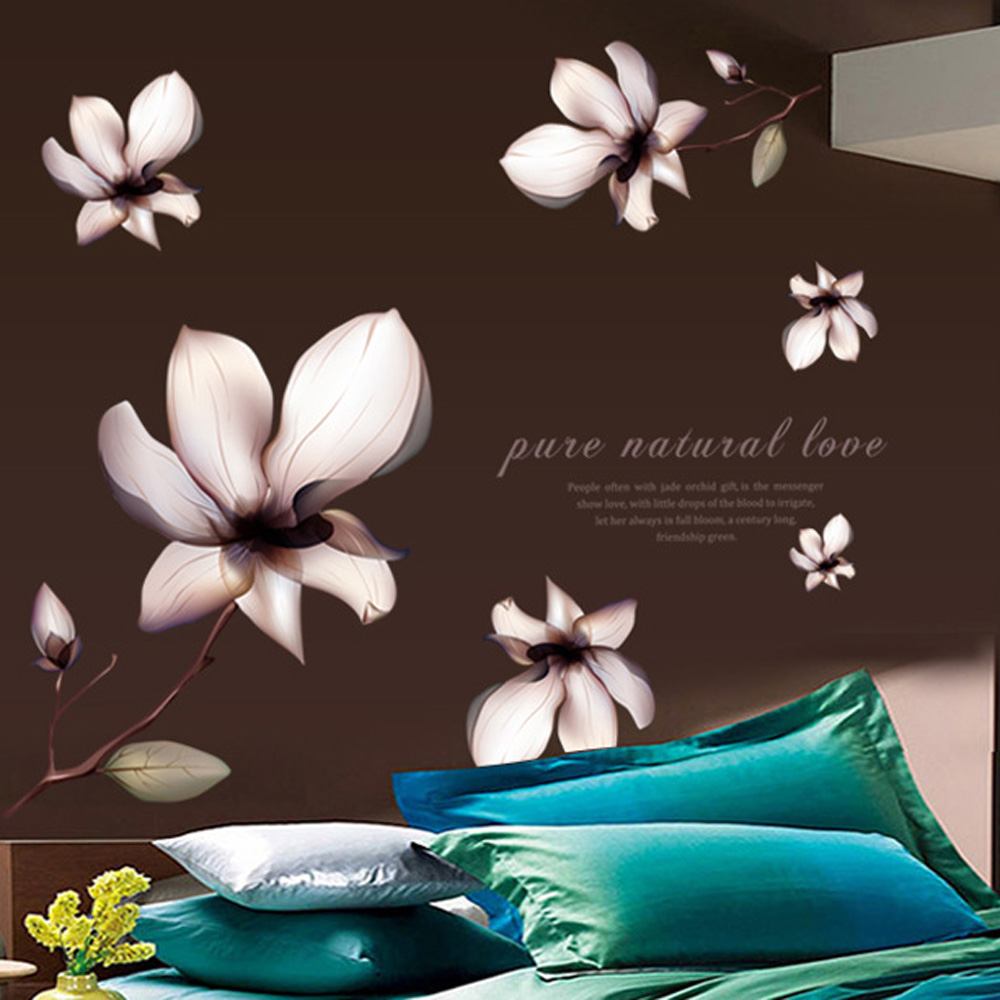 Aliexpresscom Buy Purple Lilies DIY Wallpaper Removable Wall Decals 1000x1000