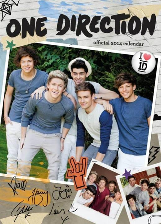 One Direction 1D official 2014 calendar 518x720