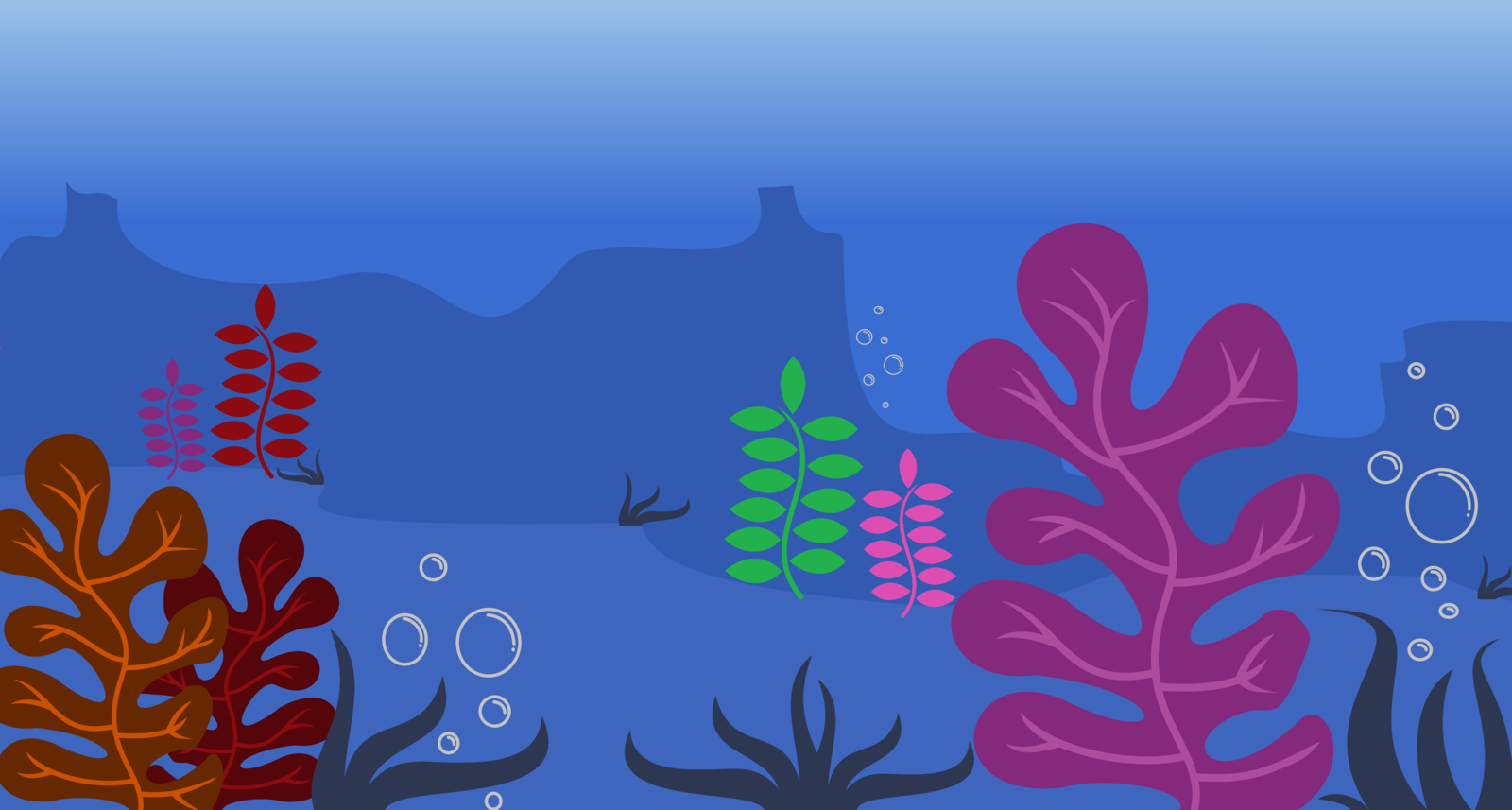 Ocean Floor BackGround by EvilFrenzy 1600x857