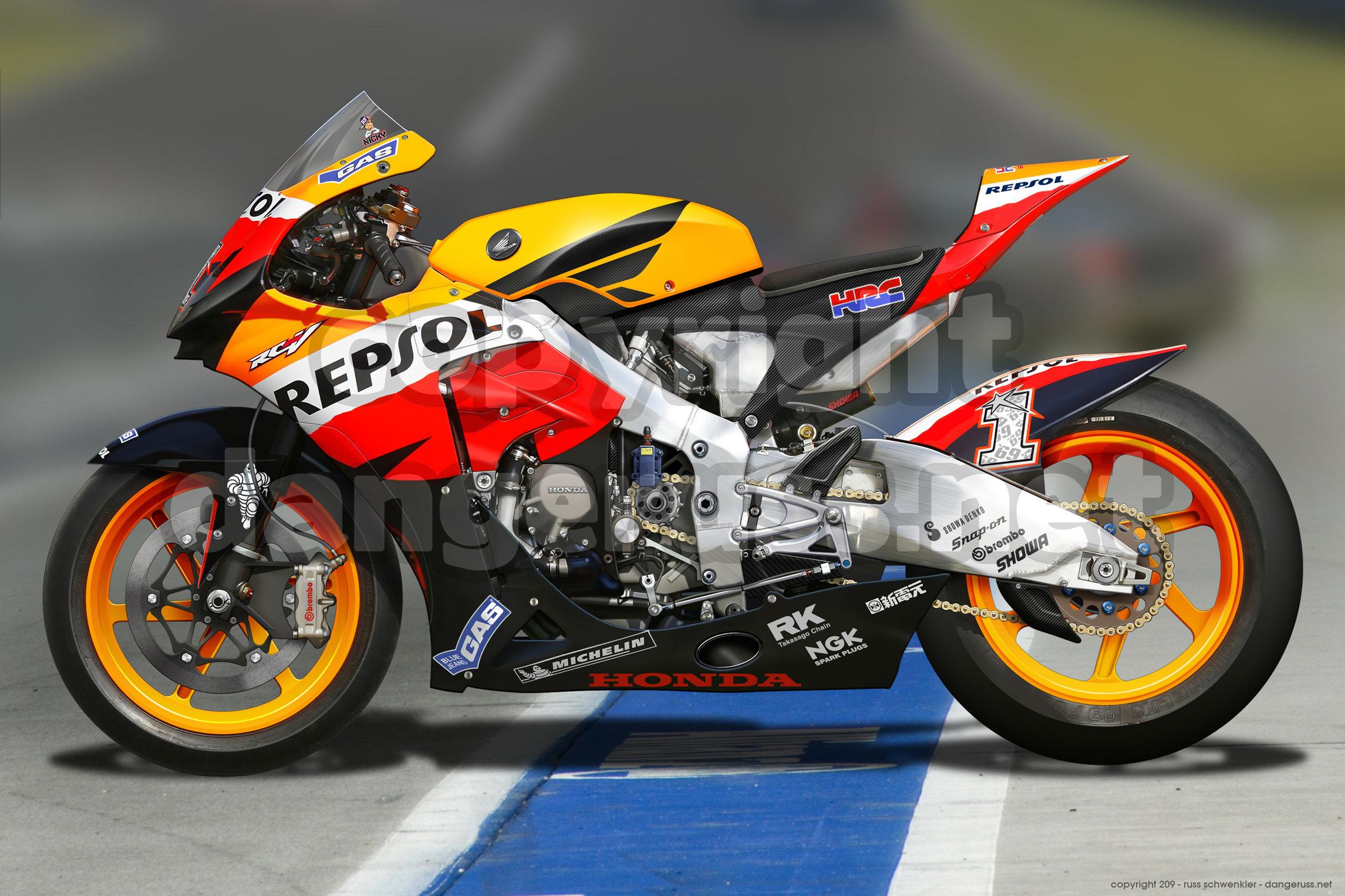 Honda MotoGP by dangeruss 2291x1527