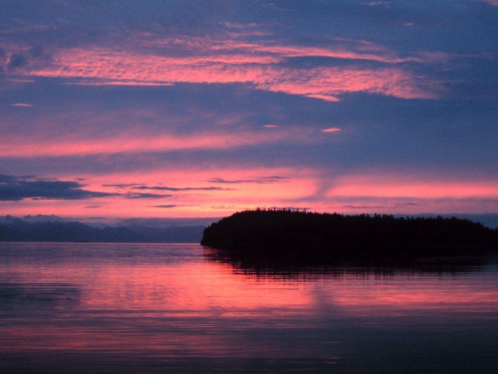 sunset wallpaper desktop Sea and Sunset 1024x768