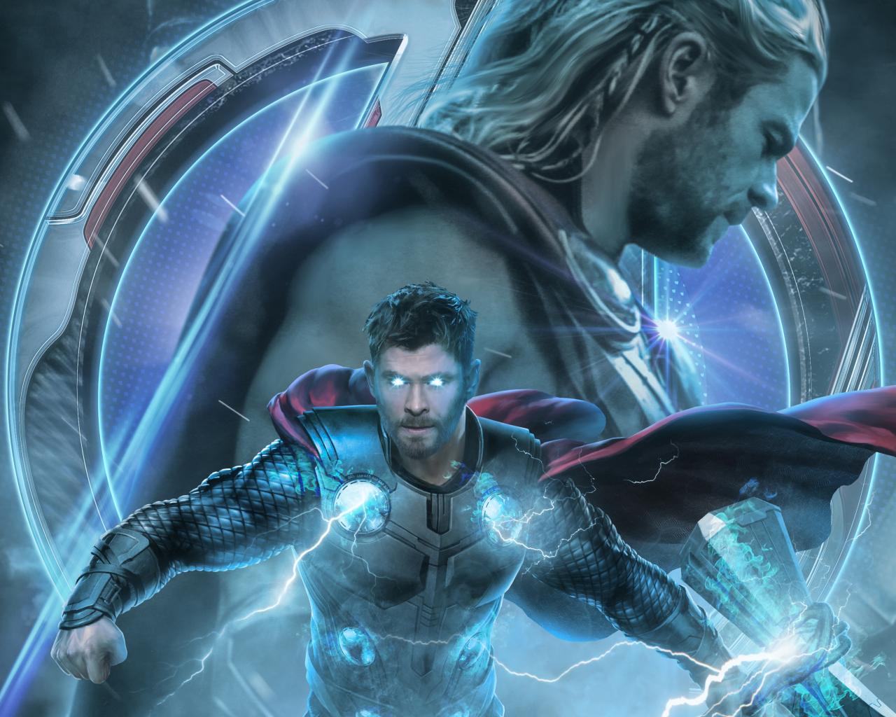 1280x1024 Avengers Endgame Thor Poster Artwork 1280x1024 1280x1024